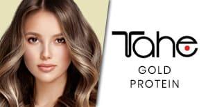 tahe gold protein en la tienda de peluqueria
